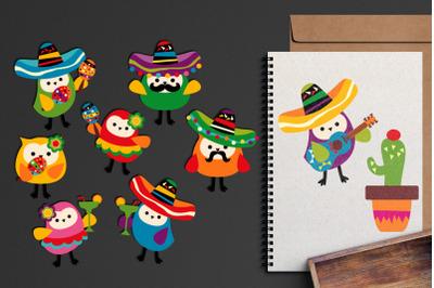 Cinco de Mayo Owls Graphic Illustrations