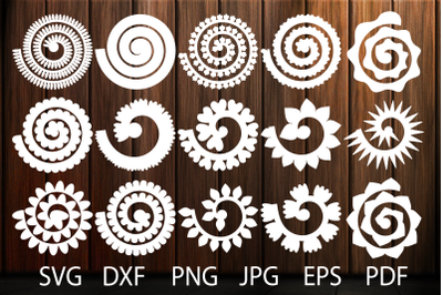 Rolled Flower Svg, Flowers Template, Rolled Paper Flowers Svg, Flowers