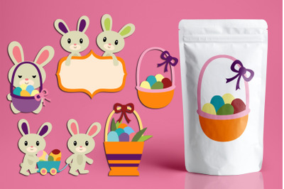Easter Basket and Bunny Graphics