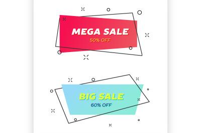 Geometric flat Sale banners