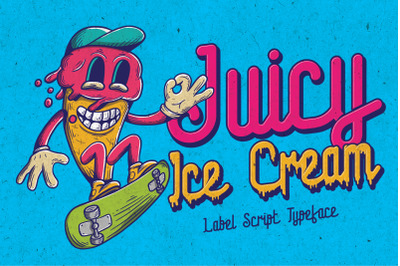Juicy Ice Cream font + bonus