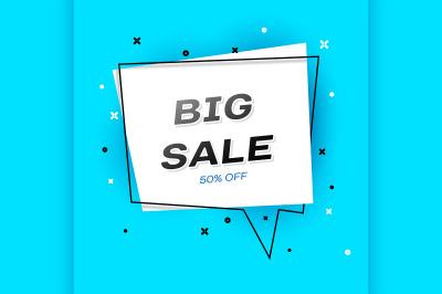 Geometric flat Sale bubble