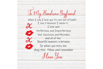 To My Boyfriend SVG