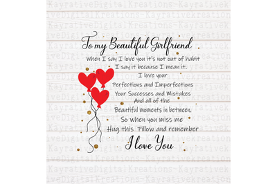 Girlfriend SVG - Long Distance Gift
