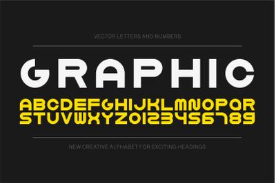 Simple graphic english alphabet