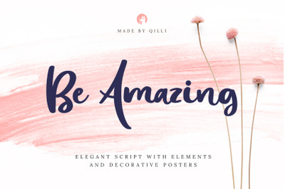 Be Amazing Font with Posters & Decor