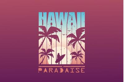 Hawaii Print For T-shirt