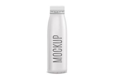 Mockup Yogurt Bottle Realistic
