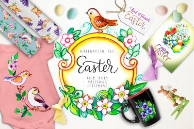 Easter watercolor set.