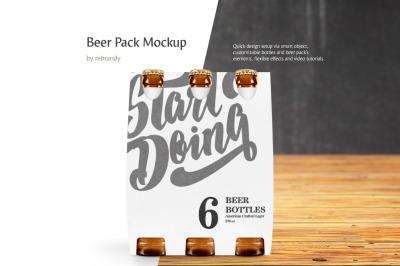 Beer Pack Mockup