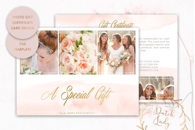 PSD Photo Gift Certificate Card Template #5
