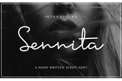 Sennita Script Style