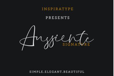 Aussiente Signature - Script Font