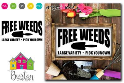 Free Weeds - SVG File for Spring