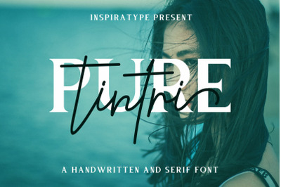 Tintri Pure - a Handwritten and Serif Font