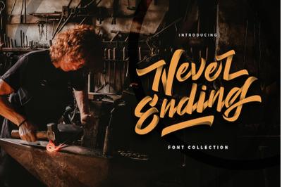 Never Ending - Vintage Script Font