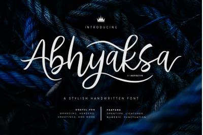 Abhyaksa - A Stylish Handwritten Font