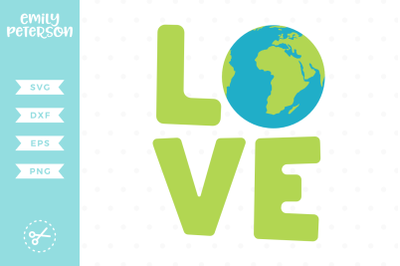 Love Earth SVG DXF