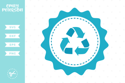 Recycle Badge SVG DXF