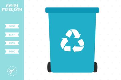Recycling Bin SVG DXF