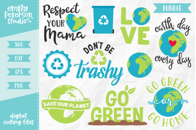 Earth Day Bundle SVG DXF - 10 Designs