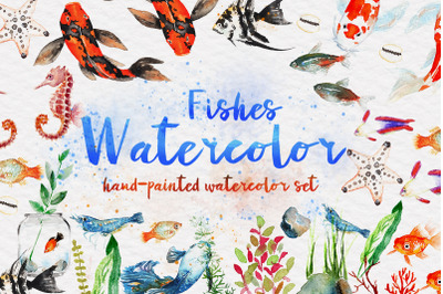 Beautiful Fishes Watercolor Set