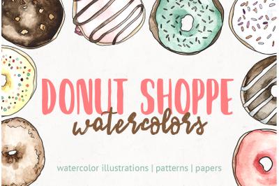 Donut Shoppe Watercolors