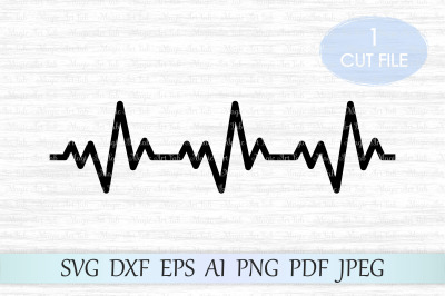 Heartbeat svg, Heartbeat cut file, Heartbeat line svg file