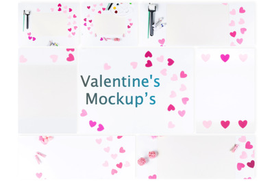 Set of 8 Valentine's Mockup's