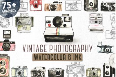 Vintage Photographer Watercolor