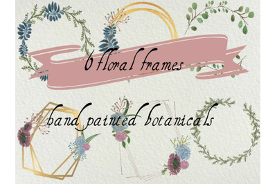 6 Floral frames