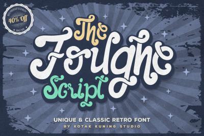 The Foughe Script - Retro Font