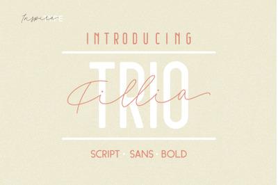 Filia - Script, Sans, and Bold