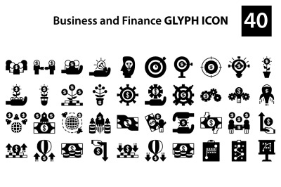 business and finance glyph icon
