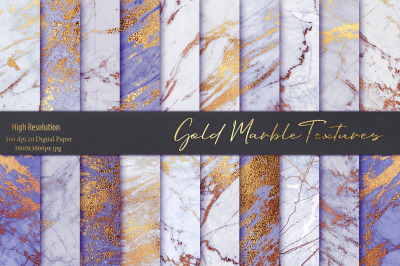 Marble Gold Digital Paper