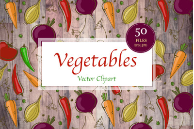 Vector Vegetables Clipart