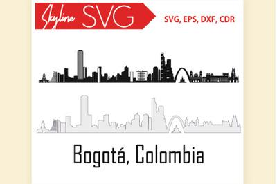 Bogota Colombia SVG City Skyline