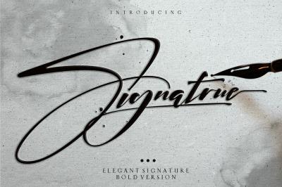 signatrue   bold and elegant signature logo