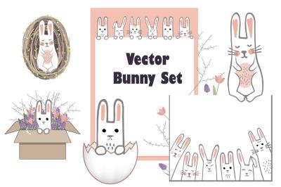 Vector Bunny Collection
