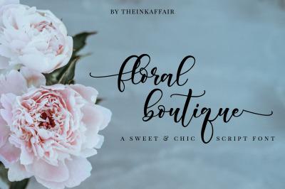 Floral Boutique | Calligraphy Font
