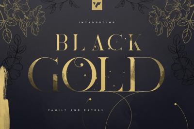 Update! Black Gold serif typeface