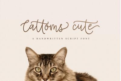 Cattoms Cute Script Fonts