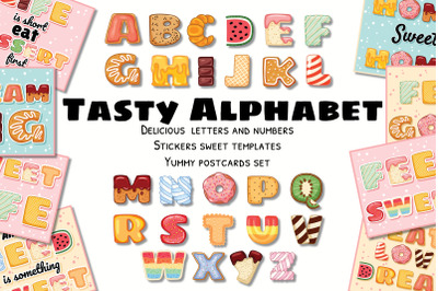 Tasty Alphabet & Yummy Postcards Set