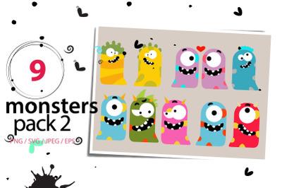 Monster Pack II high res svg, png, eps, jpeg, sticker