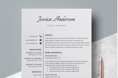 Resume Template / CV Template - Jessica