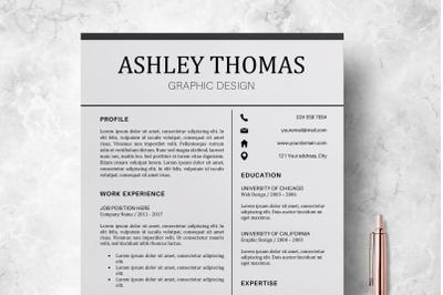 Resume Template / CV Template - Ashley