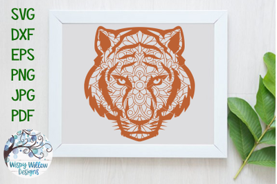 Tiger Face Mandala | Animal Mandala SVG Cut File