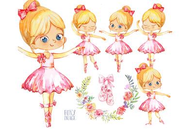 Watercolor Ballerinas PNG