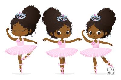 African American Ballerina Clipart