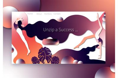 Website Template Design Ui kit. Archive a Success